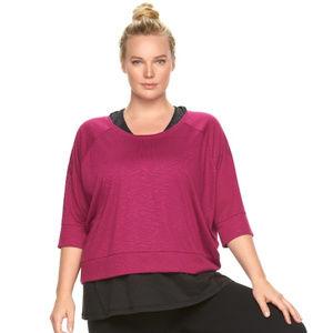 Plus Size Gaiam Reveal Yoga Crop Top SIZE 1X NWT